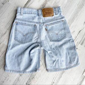 LEVIS 90s Vintage Orange Tab Boys Jean Shorts - 7x